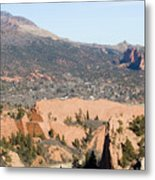 West Springs And Distant Garden Of The Gods Metal Print