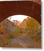 West Temple From Pine Creek Bridge Metal Print