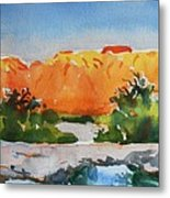 West Temple Zion Afternoon Metal Print