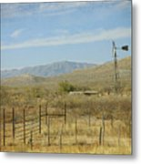 West Texas Ranch Scene II Metal Print