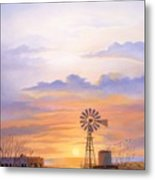 West Texas Sundown Metal Print