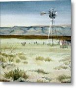 West Texas Windmill Metal Print