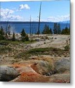 West Thumb Geyer At Yellowstone Lake Metal Print