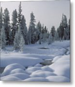 West Thumb Snow Pillows Metal Print