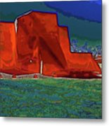 West View Of Church In Ranchos Metal Print