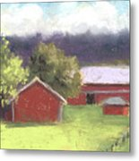 West View Of The Meyer Ranch Metal Print