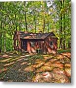West Virginia Cabin Metal Print