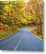 West Virginia Curves - In A Yellow Wood - Paint Metal Print