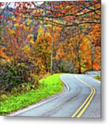 West Virginia Curves Metal Print