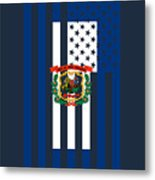 West Virginia State Flag Graphic Usa Styling Metal Print