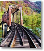 West Virginia Trestle Metal Print