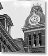 West Viriginia University Clock Tower Metal Print