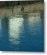 West Wharf Reflections I Metal Print