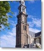 Westerkerk Tower And Church. Amsterdam. Netherlands. Europe Metal Print