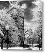 Western Auto In Winter Metal Print