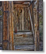 Western Outhouse Metal Print
