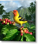 Western Tanager Metal Print by Jerry LoFaro
