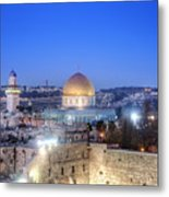 Western Wall And Dome Of The Rock Metal Print