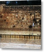 Empty Western Wall Metal Print