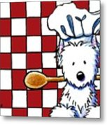 Westie Chef Metal Print by Kim Niles