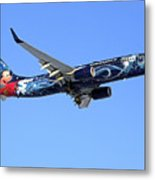 Westjet Disney Magic B-737-800 Metal Print