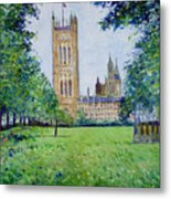 Westminster Abbey From Abbey Grounds London England 2003  Metal Print