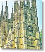 Westminster Abbey Postcard Metal Print