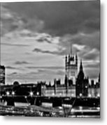 Westminster Black And White Metal Print