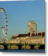 Westminster Bridge And London Eye Metal Print