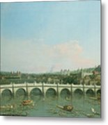 Westminster Bridge From The North With Lambeth Palace In Distance Metal Print