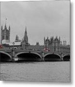 Westminster Bridge In  London Metal Print