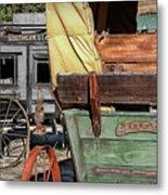 Westward Wagons Metal Print