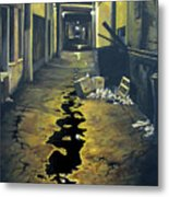 Wet Alley Metal Print
