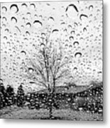 Wet Car Window B Metal Print