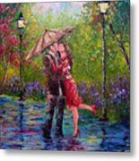 Wet Kiss Metal Print