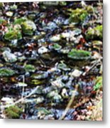 Wet Rocks Metal Print