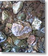 Wet Rocks Metal Print