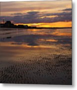 Wet Sand And Clouds 2 Metal Print