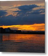 Wet Sand And Clouds Metal Print