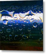 Wet Steel Blue Metal Print