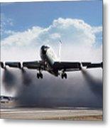 Wet Takeoff Kc-135 Metal Print