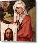 Weyden Crucifixion Triptych  Right Wing  Metal Print
