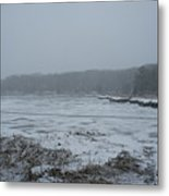 Weymouth Back River In A Snow Storm Metal Print