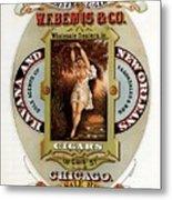 W.f.bemis And Co - Tivoli Garden Cigar Store - Vintage Advertising Poster Metal Print