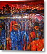 Whale Festival Procession To The Shore Metal Print