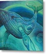 Whale Tohora By Reina Cottier Metal Print