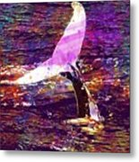 Whale Tail Ocean Animal Sea Water  Metal Print
