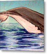 Whale Tail    Pastel   Sold Metal Print