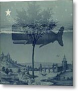 Whale Watch Metal Print