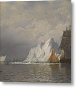 Whaler And Fishing Vessels Near The Coast Of Labrador Metal Print